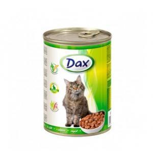 Консервы для кошек Dax, кусочки с кроликом (415 г)
