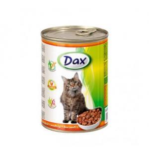 Консервы для кошек Dax, кусочки с птицей (415 г)