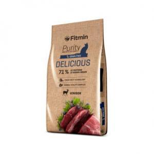 Беззерновой корм Fitmin Cat Purity Delicious для привередливых взрослых кошек (0,4 кг)