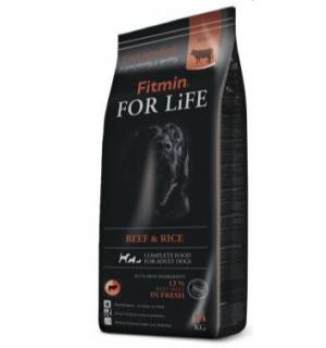 Сухой корм Fitmin For Life Beef&Rice для всех пород собак, говядина с рисом (14 кг)