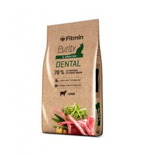 Беззерновой корм Fitmin Cat Purity Dental для взрослых кошек, способствующих здоровью полости рта (0,4 кг)