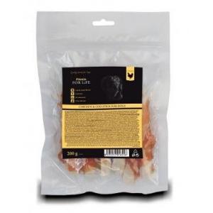 Лакомство для собак Fitmin For Life куриный стик с деликатесом из трески (0,2 кг)