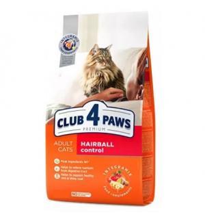 Сухой корм Club 4 Paws Премиум для взрослых кошек с эффектом выведения шерсти (14 кг)