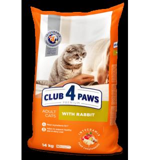 Сухой корм Club 4 Paws Премиум для взрослых кошек, с кроликом (14 кг)