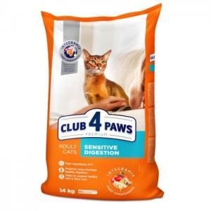 Сухой корм Club 4 Paws Премиум для взрослых кошек с чувствительным пищеварением (14 кг)