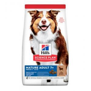 Сухой корм Hill's Science Plan для собак старше 7 лет, ягненок и рис (12 кг)