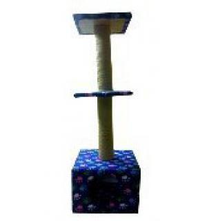Домик когтеточка  ДК-32 3-х уровневый (д-41) 41*41*125