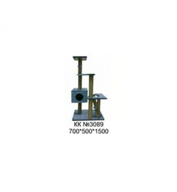 Комплекс (когтеточка) для кошек КК №3089 1000х600х1500 мм