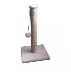 """Когтеточка ГЮ-ВАС """"СИМА"""" - столб для кошек размер 30*30*52см. (отбеленный джут) бежевая"""