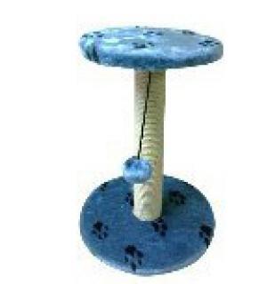 Когтеточка простая  с площадкой 37*37 (30*30) 50 синий с лапками