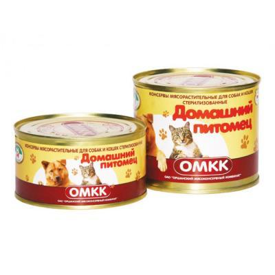 Консервы для собак и кошек «Домашний питомец» (0,525 кг)