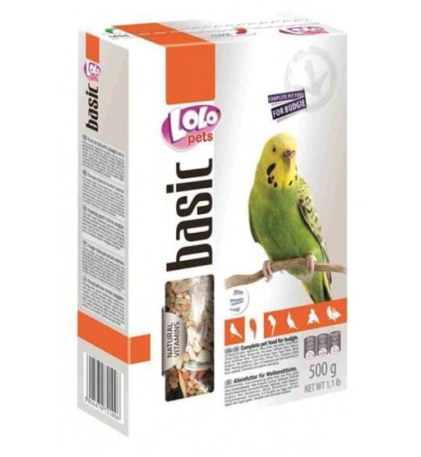 Полнорационный корм для волнистых попугаев 0,5 кг