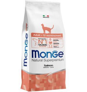 Сухой корм Monge Adult Salmon для взрослых кошек с лососем (10 кг)