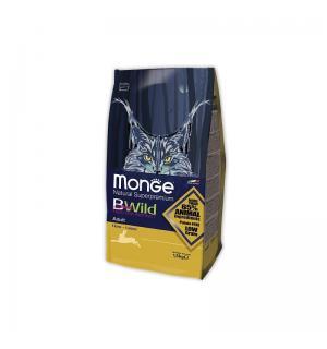 Сухой низкозерновой корм Monge Superpremium Cat BWILD для взрослых кошек, с мясом зайца (10 кг)