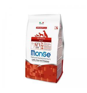 Сухой корм Monge Dog для взрослых собак всех пород с лососем и рисом (15 кг)