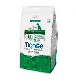 Сухой корм Monge Dog Maxi Adult для взрослых собак крупных пород, с цыпленком (15 кг)