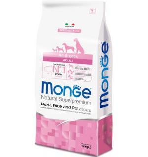 Сухой корм Monge Dog Speciality PORK/RICE 28/15 для взрослых собак всех пород со свининой и рисом (15 кг)