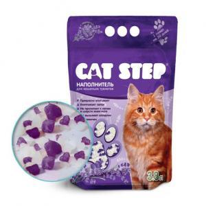"""Наполнитель силикагелевый Cat Step """"Лаванда"""", (3,8 л)"""
