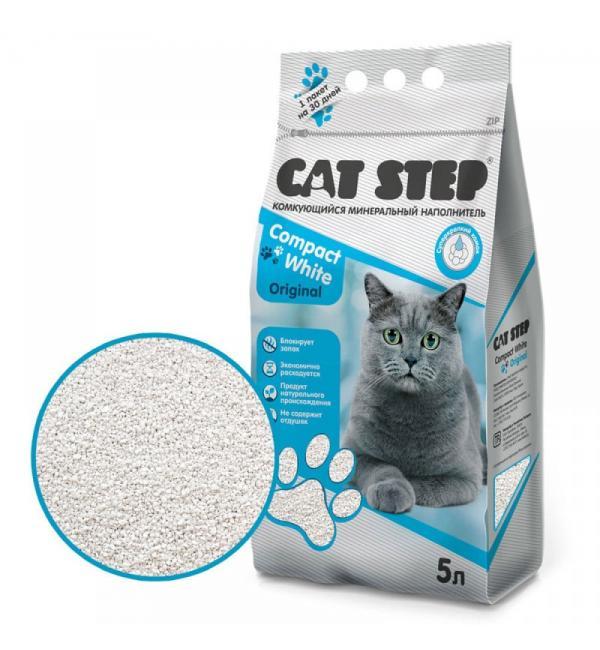 Комкующийся минеральный наполнитель Cat Step Compact Original, 5 л