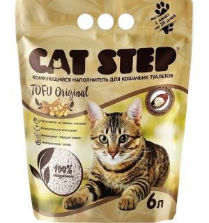 Наполнитель Cat Step Tofu Green Original, растительный комкующийся (6 л)