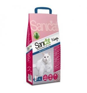 Наполнитель Sanicat 7 days Professional впитывающий, 4л