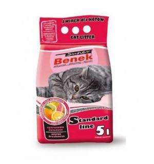 Наполнитель для кошек S.Benek комкующийся цитрусовая свежесть (5л )