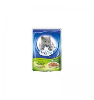 Консервы PreVital для cтерилизованных кошек, с печенью в соусе (0,1 кг)
