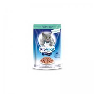 Консервы PreVital Premium для cтерилизованных кошек, с курицей в соусе (0,1 кг)