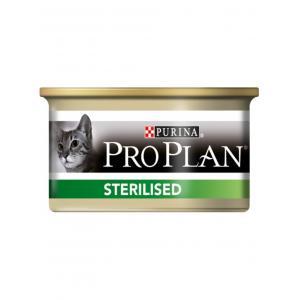 Консервы Pro Plan для стерилизированных кошек и кастрированных котов, паштет с тунцом и лососем (0,085 кг)