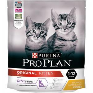 Сухой корм Pro Plan для котят, с высоким содержанием курицы (0,4 кг)