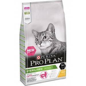 Сухой корм Pro Plan для взрослых стерилизованных кошек и кастрированных котов, с высоким содержанием курицы (1,5 кг)
