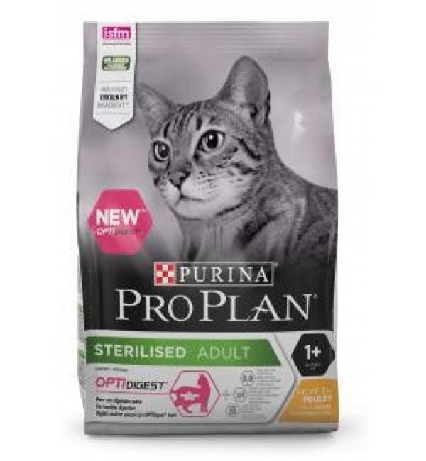Сухой корм Pro Plan для стерилизованных кошек и кастрированных котов, с высоким содержанием лосося (3 кг)