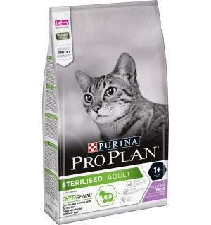 Сухой корм Pro Plan для взрослых стерилизованных кошек и кастрированных котов, с высоким содержанием индейки (3 кг)