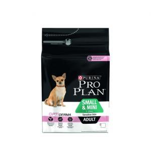 Сухой корм Pro Plan для взрослых собак мелких и карликовых пород с чувствительной кожей, с лососем и рисом (0,7 кг)