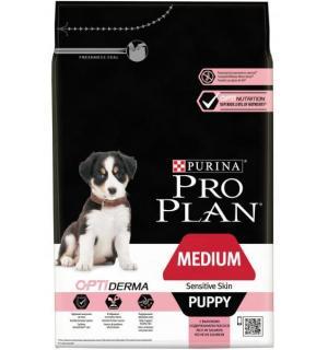 Сухой корм Pro Plan для щенков средних пород с чувствительным пищеварением, с лососем и рисом (3 кг)