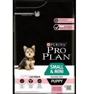 Сухой корм Pro Plan для щенков мелких и карликовых пород с чувствительным пищеварением, с ягненком и рисом (3 кг)