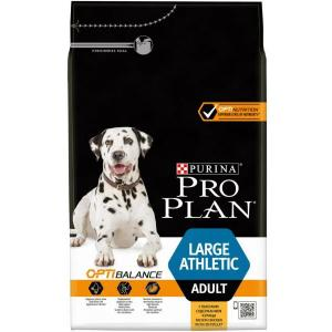 Сухой корм Pro Plan для взрослых собак крупной породы с атлетическим телосложением, с курицей и рисом (3 кг)