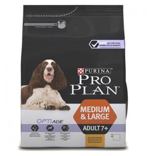 Сухой корм Pro Plan для взрослых собак старше 7 лет средних и крупных пород с чувствительной кожей, с высоким содержанием лосося (3 кг)