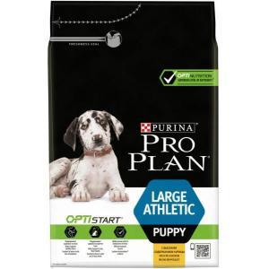 Сухой корм Pro Plan для щенков крупных пород с атлетическим телосложением, с курицей и рисом (12 кг)