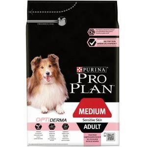 Сухой корм Pro Plan для щенков средних пород с чувствительной кожей, с лососем и рисом (12 кг)