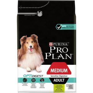 Сухой корм Pro Plan для взрослых собак средних пород с чувствительным пищеварением, с ягненком и рисом (14 кг)