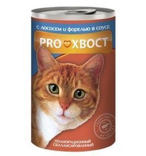 Консервы PROхвост для кошек, лосось, форель (0,415 кг)