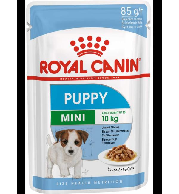 Влажный корм ROYAL CANIN MINI PUPPY для собак, в соусе (0,085 кг)