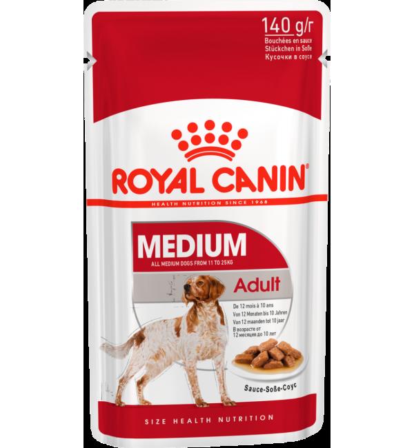 Влажный корм ROYAL CANIN MEDIUM ADULT для собак, в соусе (0,14 кг)