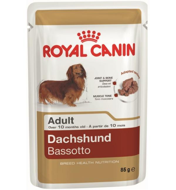 Влажный корм ROYAL CANIN DACHSHUND паштет для такс (0,085 кг)