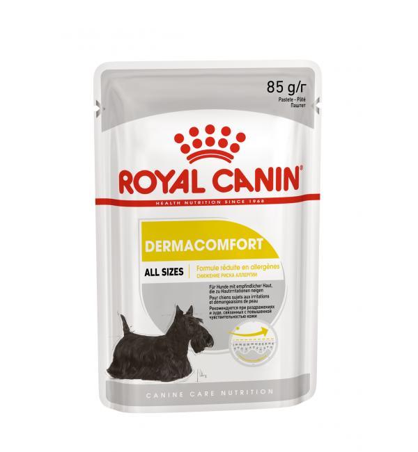 Влажный корм ROYAL CANIN DERMACOMFORT CANINE 12Х0,085 кг (1,02 кг)