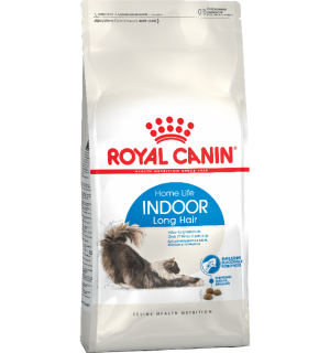Сухой корм ROYAL CANIN Indoor Long Hair для домашних длинношерстных кошек (0,4 кг)