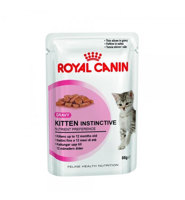 Влажный корм ROYAL CANIN KITTEN INSTINCTIVE in GRAVY, в соусе (0,085 кг)