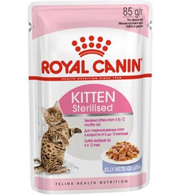 Влажный корм ROYAL CANIN KITTEN STERILIZED in JELLY для стерилизированных котят (0,085 кг)