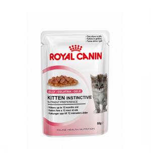 Влажный корм ROYAL CANIN KITTEN INSTINCTIVE in JELLY, кусочки в желе (0,085 кг)